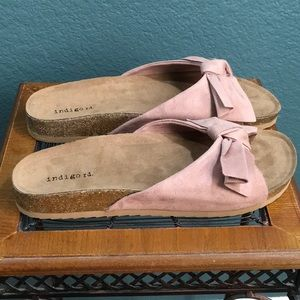 Indigo rd. Pink Bow Slides Sandals